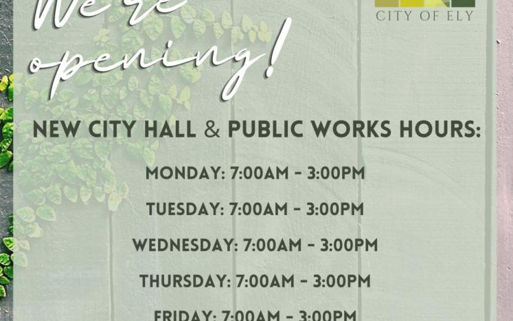 Ely City Hall reopens