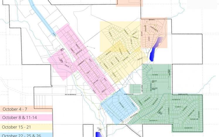Hydrant Flushing Map