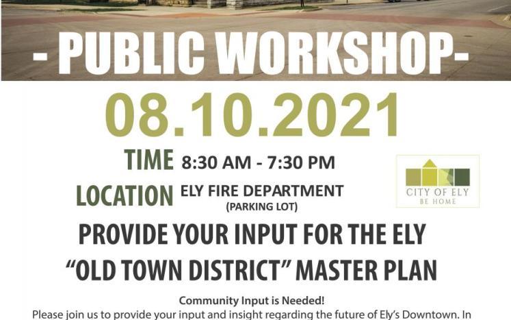 Public Input Workshop Flyer