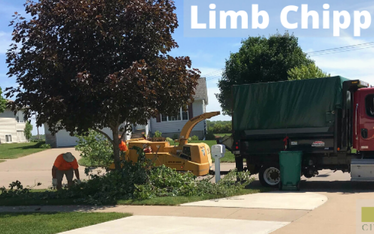limb chipper in action