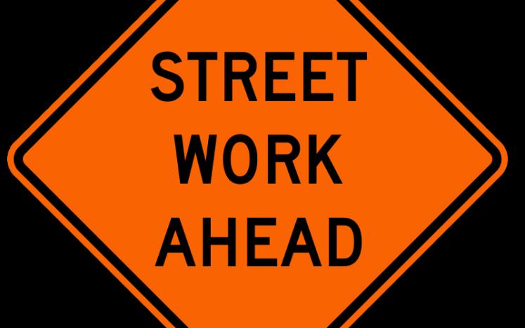 Street Work Ahead Sign